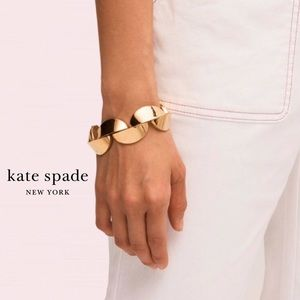 Kate Spade Gold Sliced Scallops Statement Bracelet